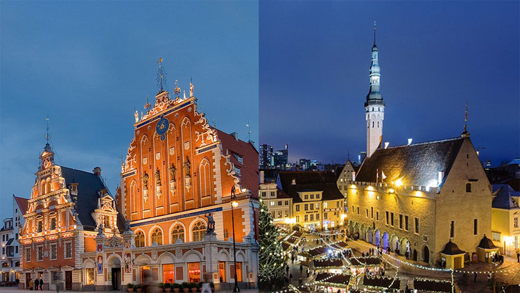 Две столицы Прибалтики (Рига-Таллинн)
